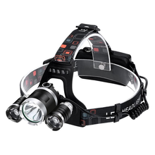 YJN5006 Factory Supply Water Proof Multifunction 3 Led Headlamp Work Camping Rechargeable Head Torch Light Head Lamp