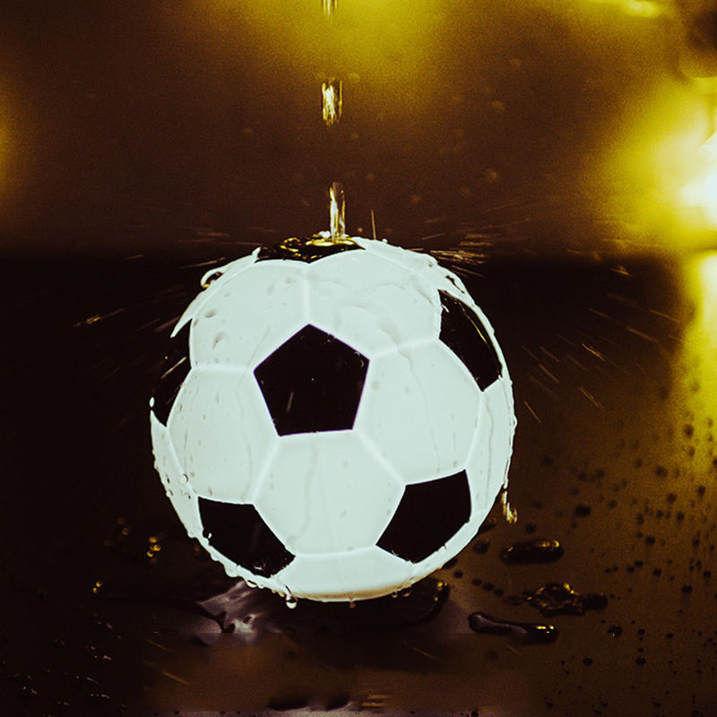 Silicone Creative Gift USB Charging Table Kid Bedroom Sleep Football Night Light