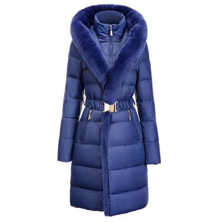 Custom Women Fashion Coat Luxury Fur Winter Jacket Women