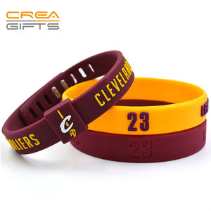 Hot Sale Pulsera New Design Elastic Wrist band Custom Promotional PVC Adjustable Wristband Bracelets For Events