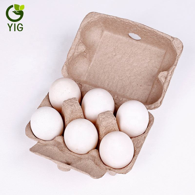 Paper Pulp Egg Carton Biodegradable Pulp Fiber Egg Tray molded paper pulp packaging tray