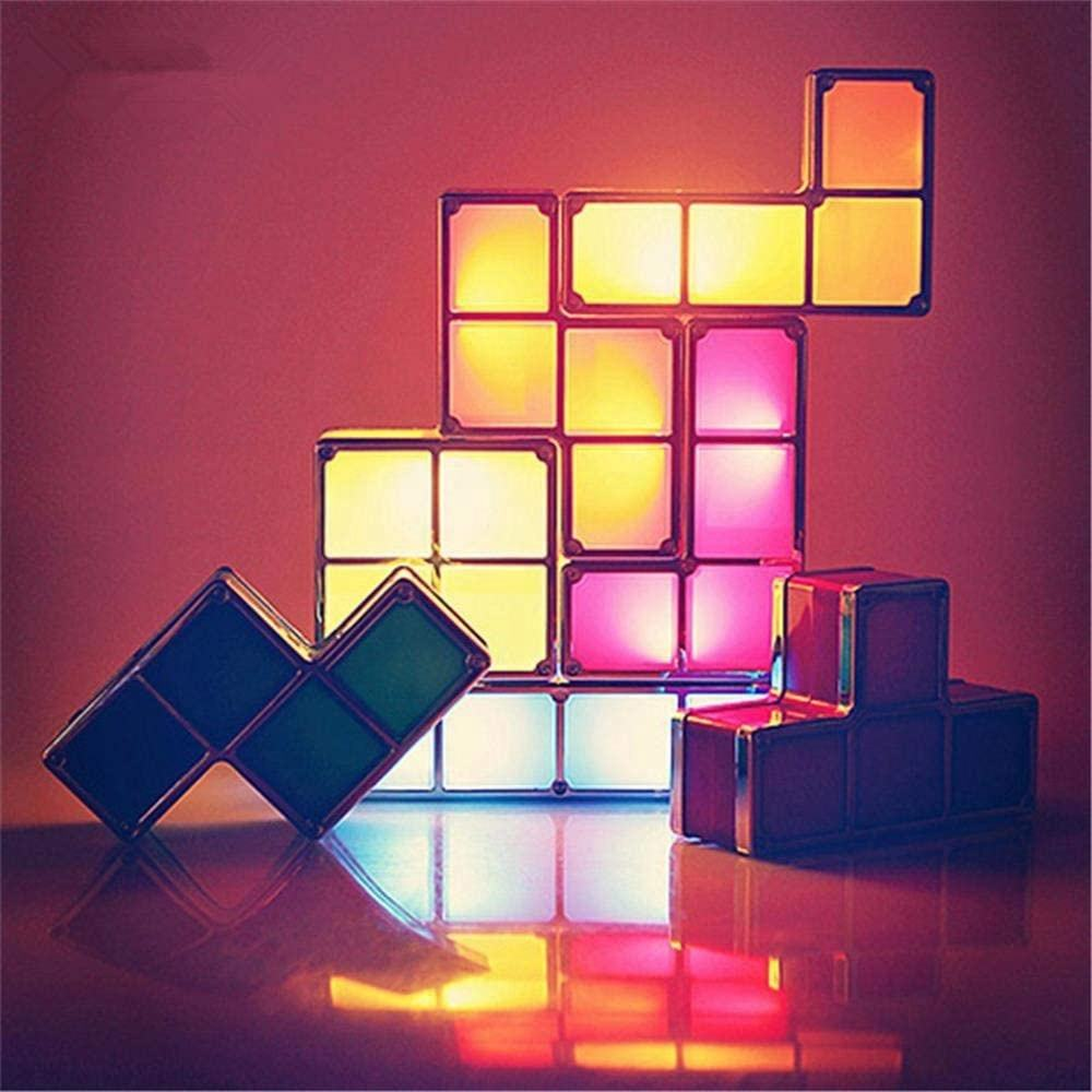 Touch Connection DIY Creative Tetris Block LED Decoration Light Night Lamp