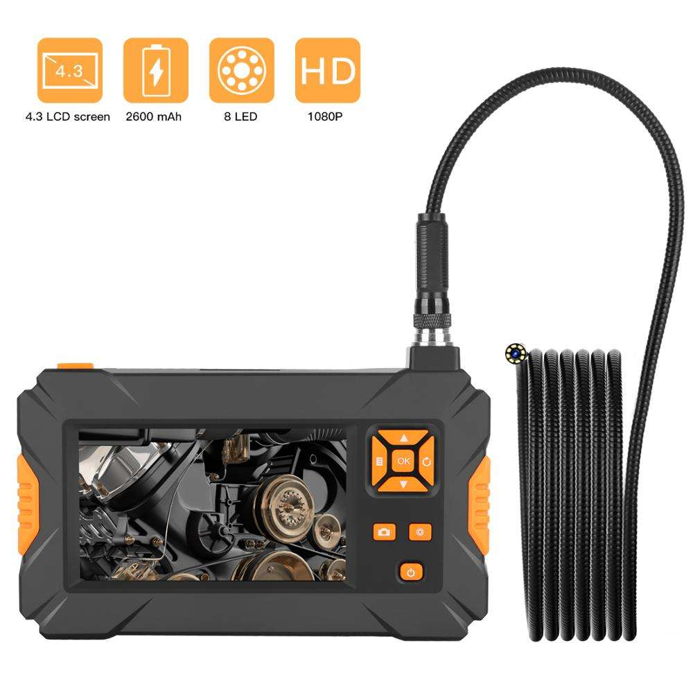 "Hot sale 1080P 4.3"" HD Screen Handheld Endoscope 5m Snake cable Inspection Camera Borescope"