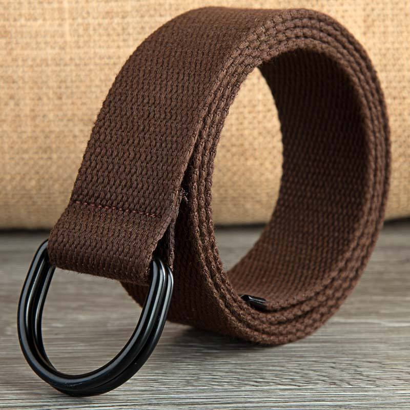 1 1/2 inches pure cotton environmental protection men and women D-ring belt