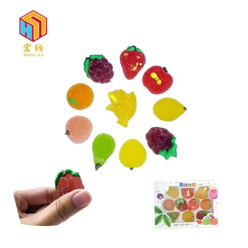 110g cute good taste fruit fudge soft sweet candy jelly with gift box