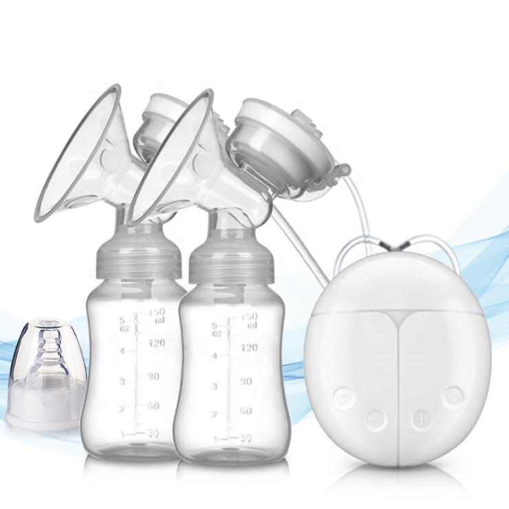 BPA Free Rechargeable Automatic Closed AC Feeding Double Electric Breast Pump for Milk