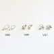 Wholesale 925 sterling silver accessory french reverse spring earring hooks with pearl holder for jewelry making