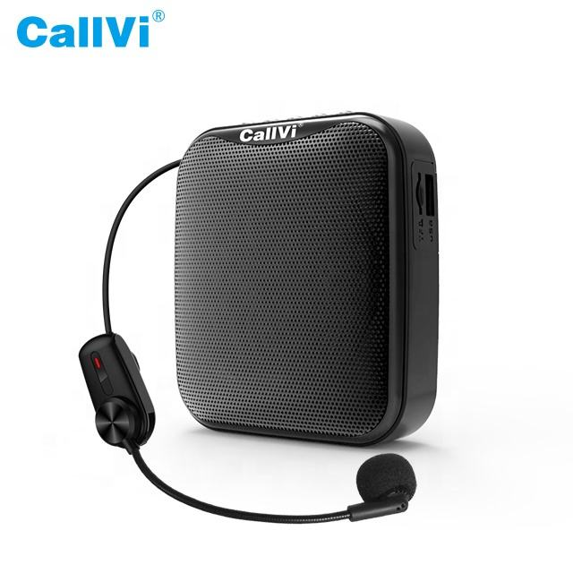 Callvi Speaker Aktif Portabel V-317, Penguat Suara Nirkabel Mini Bluetooth