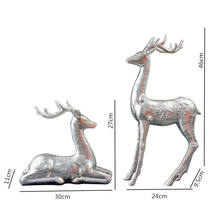 Creative european home furnishing 2 pieces lovers deer resin ornament