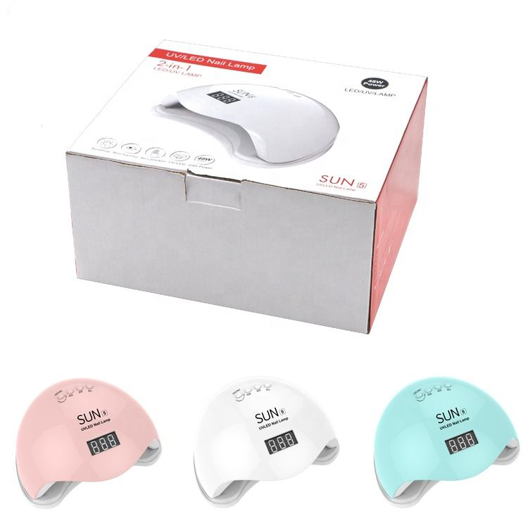 48W Attractive Price Infrared Sensor UV Lamp Nail Gel Polish Digital Timer High Quality Sun Mini Nail Dryer
