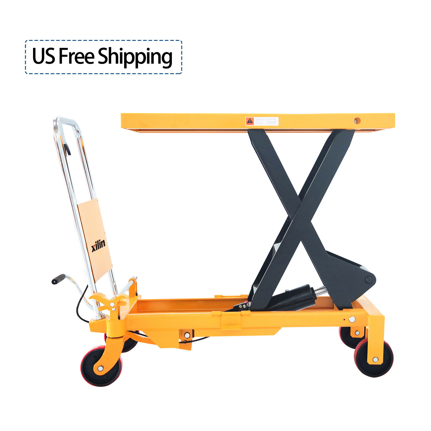 Xilin Capacity 0.8ton 800kg 1764lbs Hydraulic hand lift table mobile scissor lift table manlift platform table lift