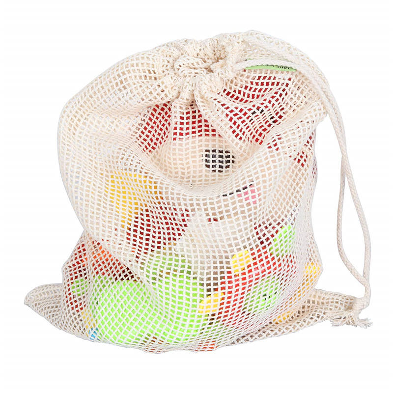 Eco friendly product shopping cotton linen mesh bag