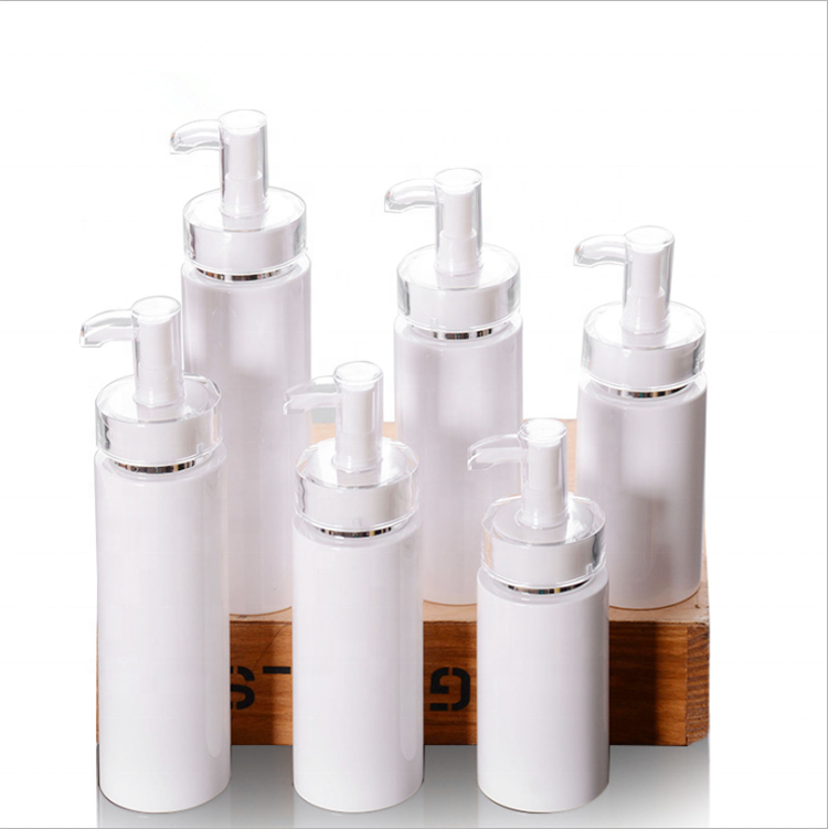 high-grade cosmetic packaging 120ml 160ml 200ml Porcelain white cosmetic cream lotion pump bottles
