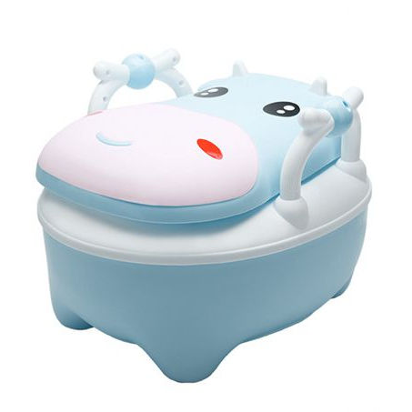 New Design Dairy Cow Shape Portable Plastic Foldable Baby Toilet Potty Training Chair For Kids With PU Cushion