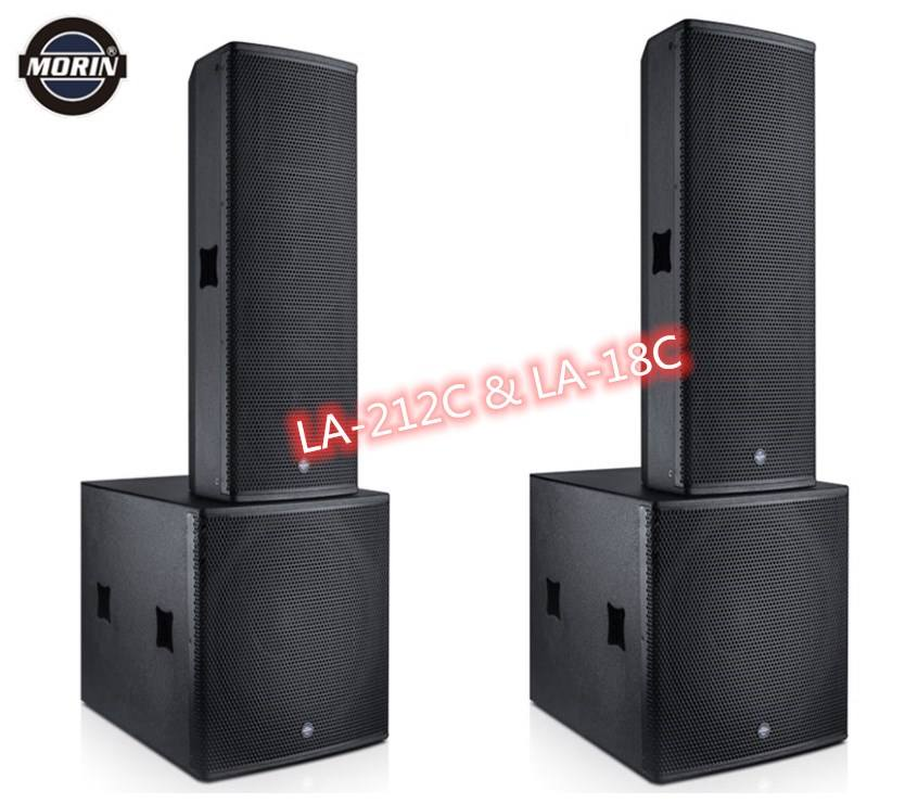 Dual 12inch public address system with 18inch powered subwoofer LA-212C