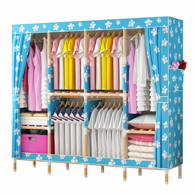 Wholesale price assemble style cheap storage portable closet wardrobes bedroom wooden with high quality