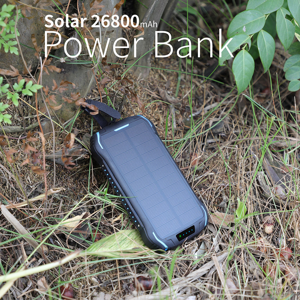 3 in 1 Solar Charger OEM 26800Mah <span class=keywords><strong>EXW</strong></span> Prijs Hoge Efficiënte Draadloze Universele Beste Power Bank