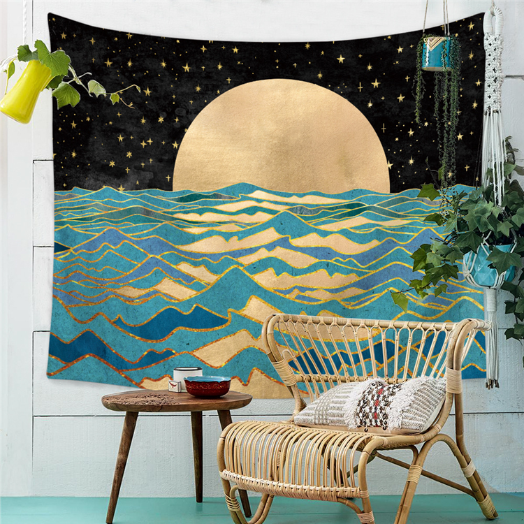 Hot selling morden gewoon polyester room decor tapestry