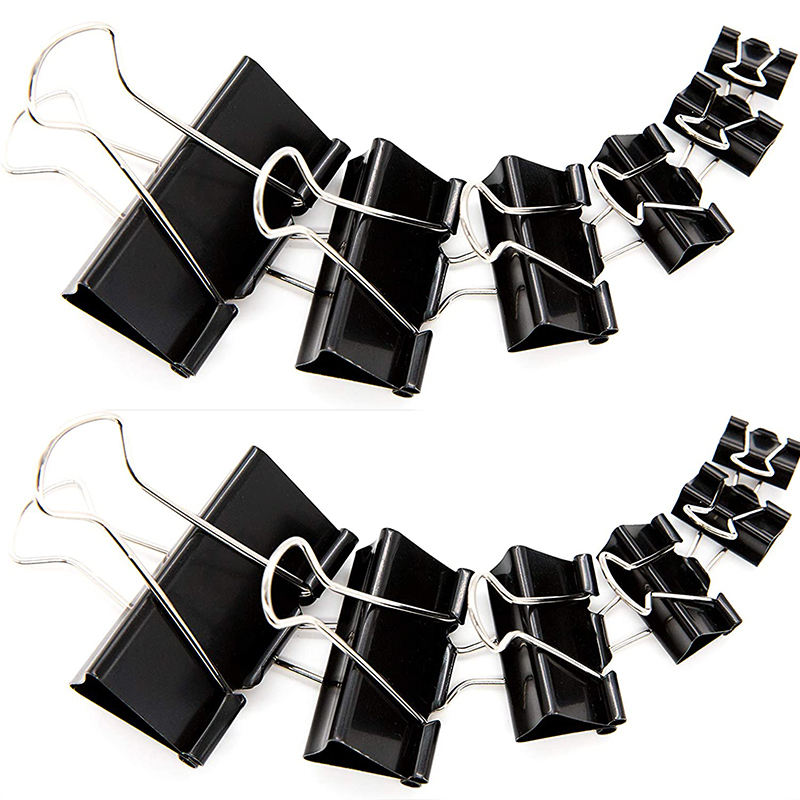 19mm Metal shelf Black notebook binder clip