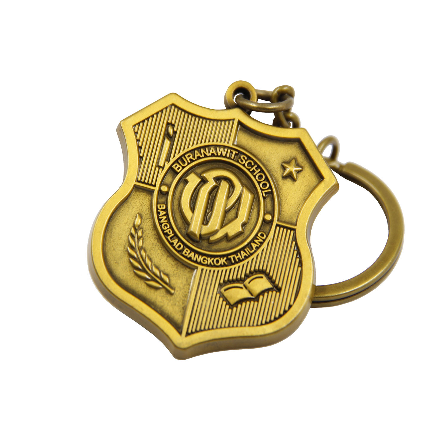 Manufacturers Custom LOGO Wholesale 3D Brass blank key chain