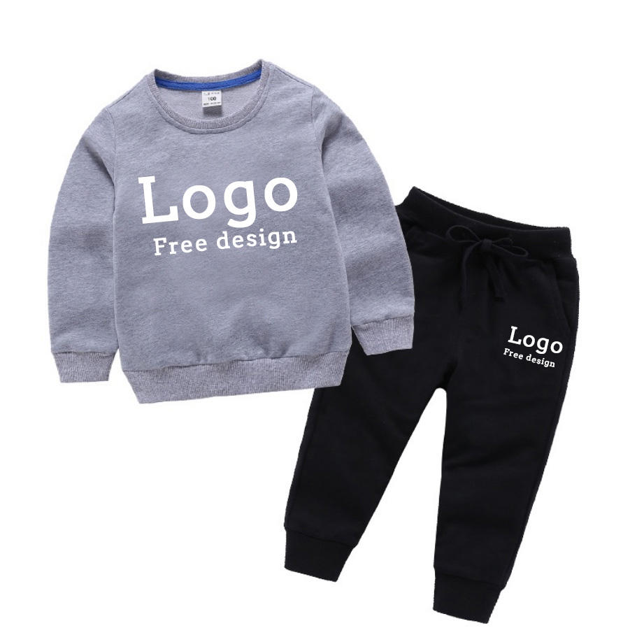 computer printing Embroidery logo Boys' Sweater Set New Fashion kids Long Sleeve Korean Comfortable and Handsome kids Sweater