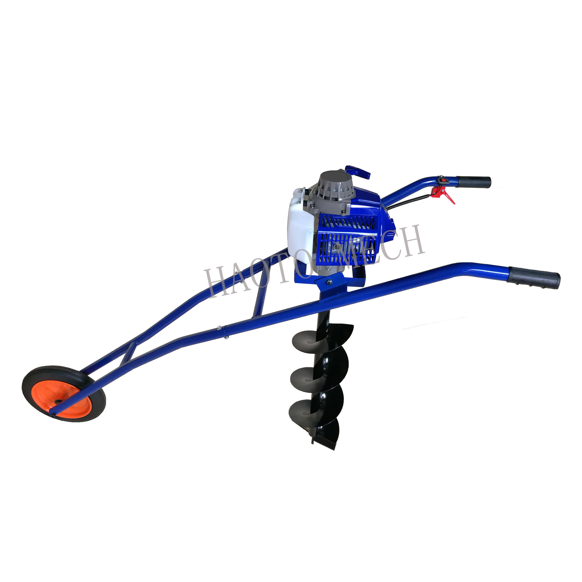 Gasoline Hand push Ground Drill 62cc Petrol Earth Auger ground auger drill machine