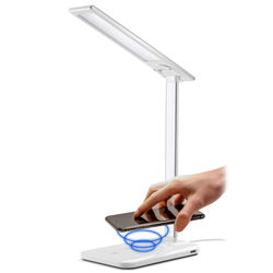 2021 European QI Standard Table lamp Led Wireless Charger fo