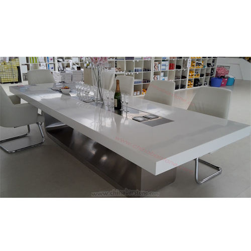 Modern luxury large big boardroom rectangular 10 person conference table white
