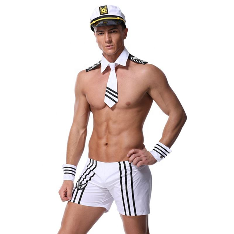 Halloween Sexy Lingerie Men Gay Navy Sailor Adult Costume