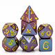 7 PC Light Changer Dragon Font DND Metal Dice