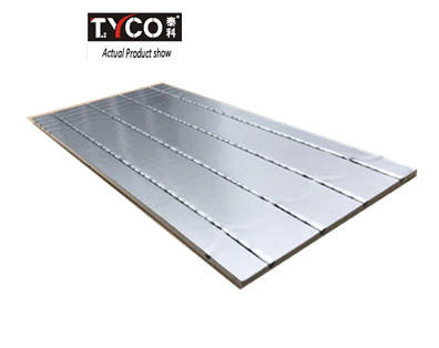 Floor panels for hydronic radiant floor heating System