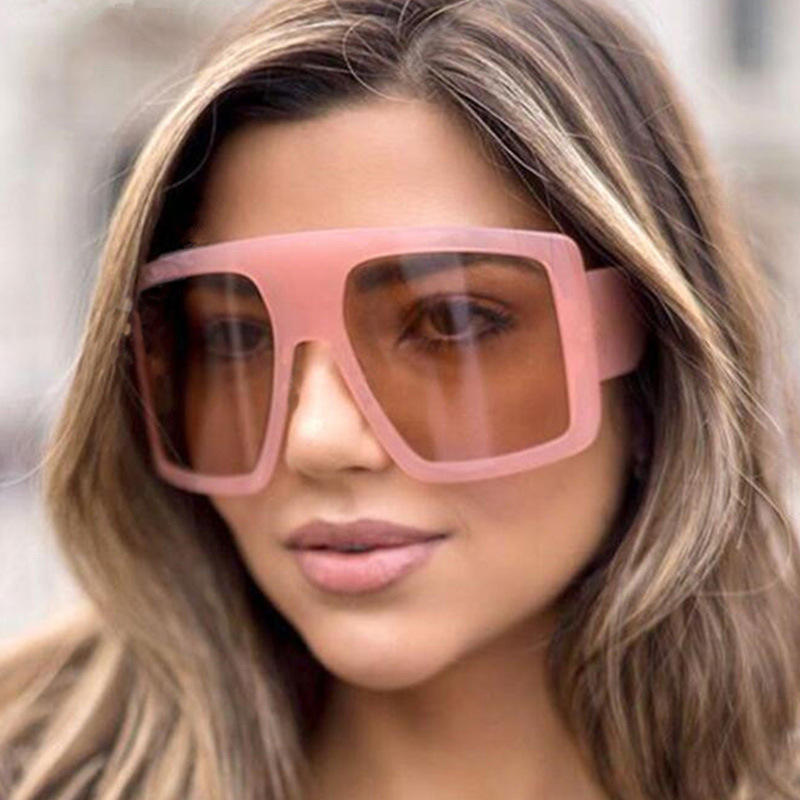 2021 Fashion Bigger Oversized Frame Women Trendy Shades Sunglasses