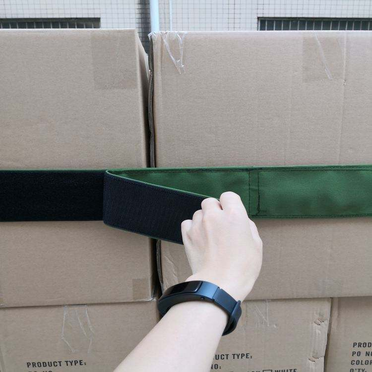 Factory wholesale reusable flexible hook and loop pallet strap