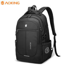 AOKING Durable men casual Lightweight Waterproof mochilas rucksack 19 inch laptop bag black laptop Backpack