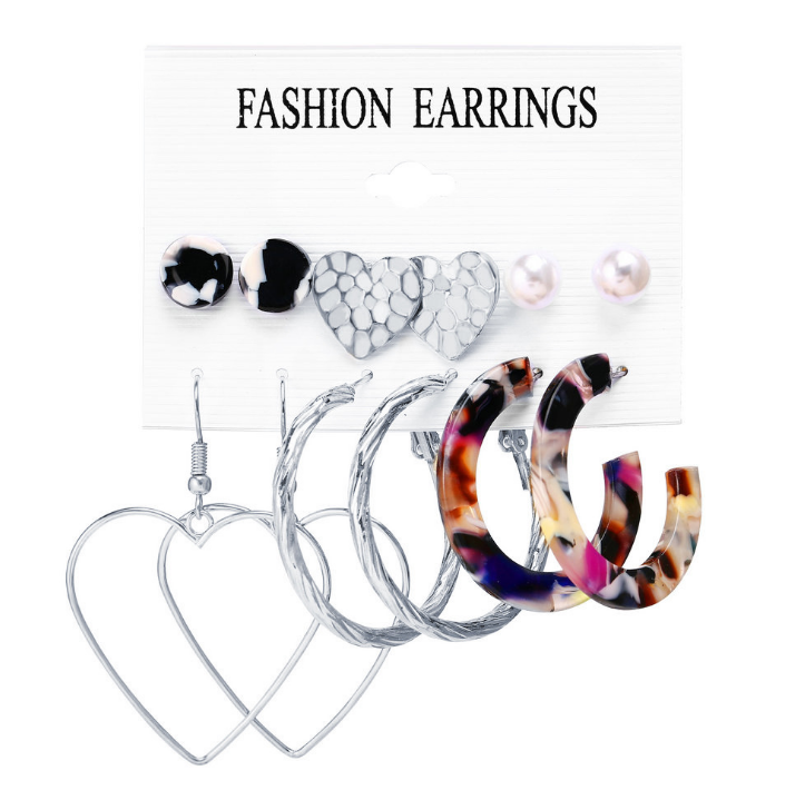 2019 NEW Fashion Earring Hooks India Tassel Earring Set Stud Earring Wholesale Christmas Gifts gold acrylic jewelry earrings set