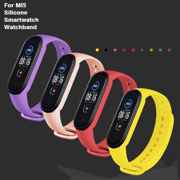 For Mi5 Soft TPUシリコーンWristband Replacementsミband5 Smart Wrist Band Bracelet Strap ReplacementsためMi 5