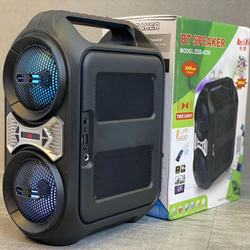 2*4 Inch Speaker Outdoor Portable trolley Speaker DJ Speaker System Subwoofer Sound Box With LED Light KIMISO ZQS-4230
