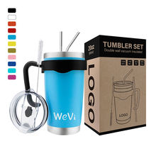WeVi 20oz 30 oz Wholesale Thermo Stainless Steel Double Walled Vacuum Reusable Coffee Tumbler  Cups With Lid
