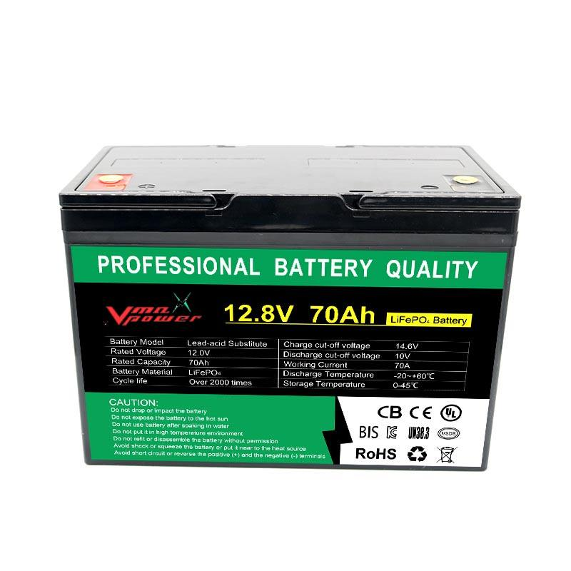 Vmaxpower12V 70AH lithium ion battery price with 72v 40ah lithium battery charger and lithium polymer battery