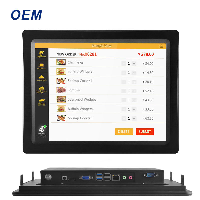 Original hersteller OEM ODM robuste IP65 resistive 15,6 21 zoll Celeron core i3 i5 i7 embedded touch screen industrie panel pc