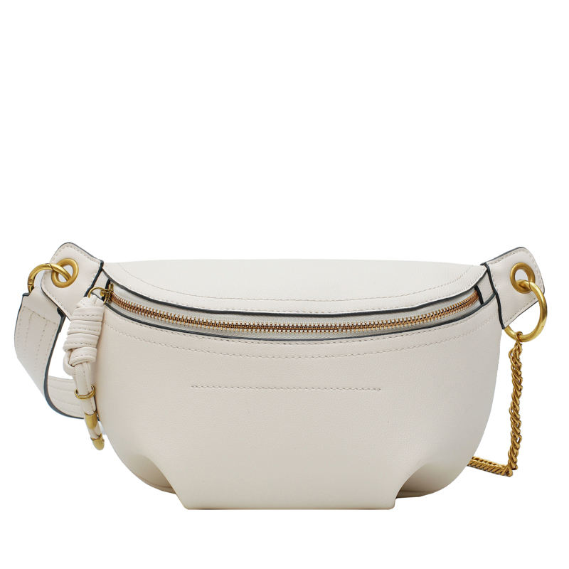 High Quality Custom PU Leather White Women Fanny Pack Waterproof Ladies Waist Bags