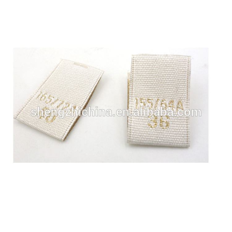 Factory provided damask woven custom size label
