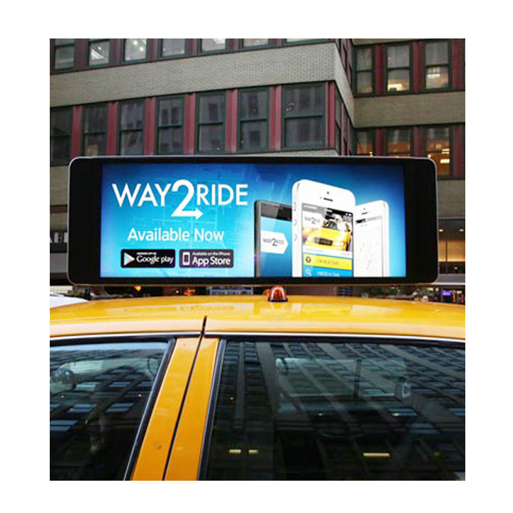 Outdoor Waterproof Taxi Led Top Roof Display Signs for Sale