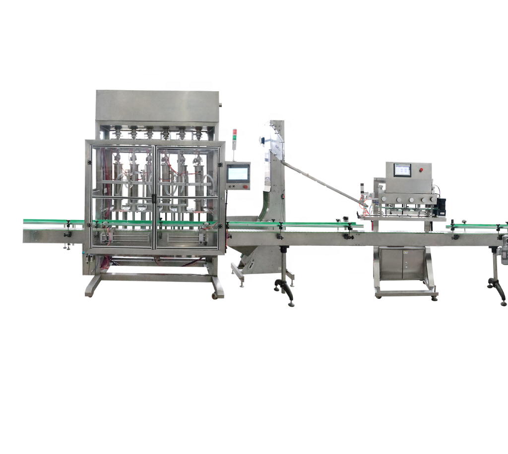 automatic lube oil bottle filling capping and labeling machine