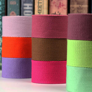 Wholesale Colorful Polyester Cotton Webbing tapes for bags