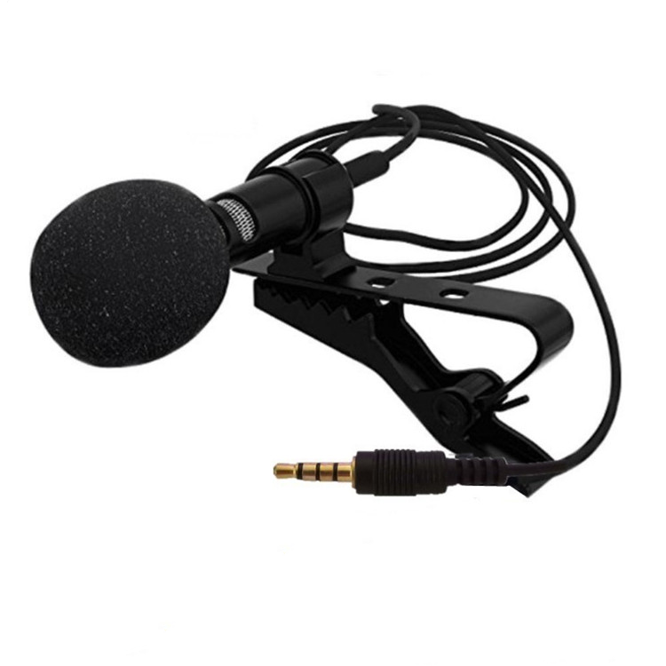 Portable Wired Mini 3.5mm Metal Lapel Lavalier Clip Condenser For Smartphone Speech Teach Recording Microphone