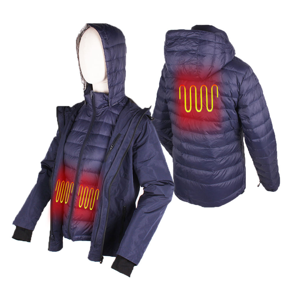 Controller Thermal Far Infrared Full Size USB Heated Jacket