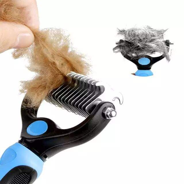 L Pet Grooming Comb Shedding Hair Remove Brush for Dogs Cats Cleaning Supply