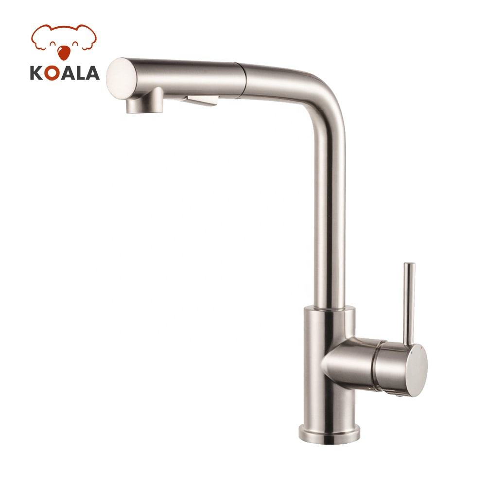 Single Knob Pullout Nozzle Wash Basin Kitchen Faucet Mixer Sink Taps