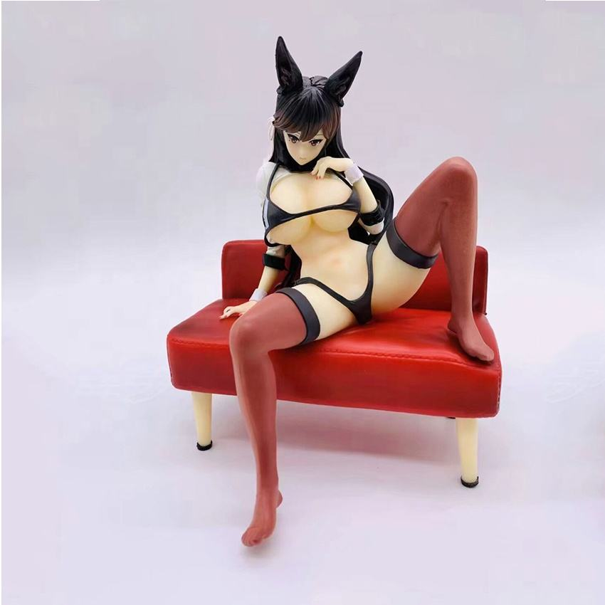 Anime Azur Lane IJN Atago Sitting in a Sofa Ver. Cute Sexy Girls Figure Model Toys Soft Body Figure Collection Doll PVC with box